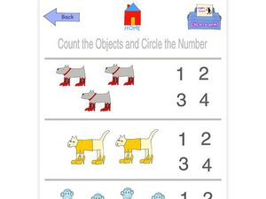 Count the Objects and Circle the Number Worksheet