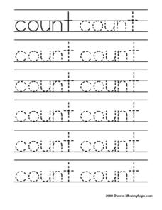 Count Tracing Practice Worksheet