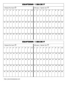 Countdown - I Can Do It Worksheet