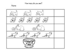 Counting 1-5 Worksheet Worksheet