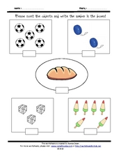 Counting 1-6 Worksheet