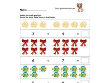 Counting and Adding Practice Worksheet