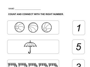 Counting and Connecting Numbers Worksheet