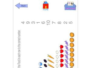 Counting and Matching Numbers Worksheet