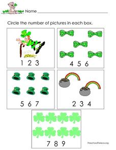 Counting and Number Identification - St. Patrick's Day Theme Lesson Plan