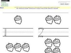 Counting and Writing Numbers 1-5 Worksheet
