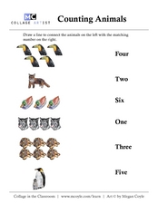 Counting-Animals Worksheet
