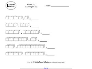 Counting Blocks Worksheet