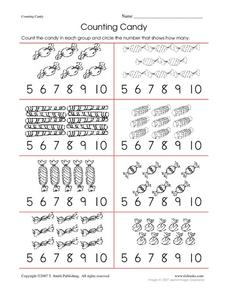Counting Candy Worksheet