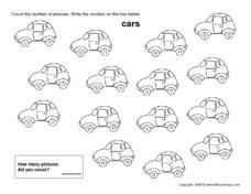 counting cars kindergarten 1st grade worksheet lesson planet. Black Bedroom Furniture Sets. Home Design Ideas