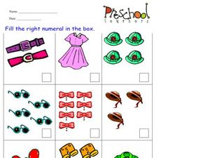 Counting Clothes Worksheet