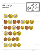 Counting Euros 3 Worksheet