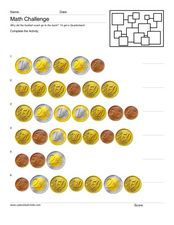 Counting Euros Worksheet