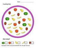 Counting Fruits Worksheet