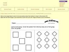 Counting Geometric Shapes 1-9 Worksheet