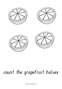 Counting Halves Worksheet