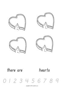 Counting Hearts Worksheet