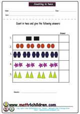 Counting In Twos Worksheet