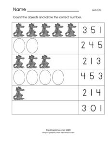 Counting Numbers 0-5 Worksheet
