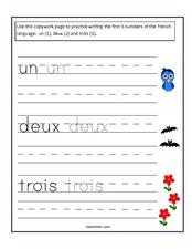 Counting Numbers Worksheet