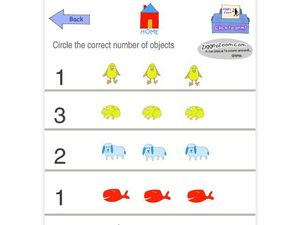 Counting Objects in a Set (1-3) Worksheet