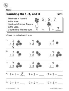 Counting On 1, 2, and 3 Worksheet