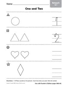 Counting: One and Two Worksheet