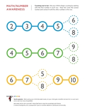 Counting One to Ten Worksheet