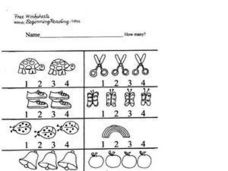 Counting Pictures 1-4 Worksheet