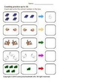 Counting Practice up to Ten 2 Worksheet