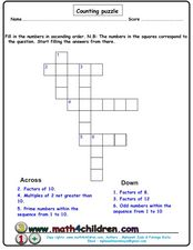 Counting Puzzle Worksheet