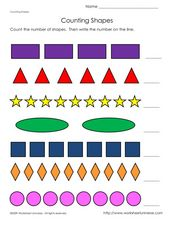 Counting Shapes Worksheet