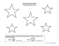Counting Stars: 1-3 Worksheet