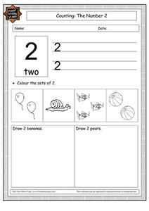 Counting: The Number 2 Worksheet