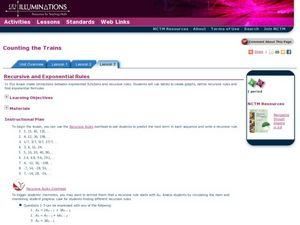 Counting The Trains Lesson Plan