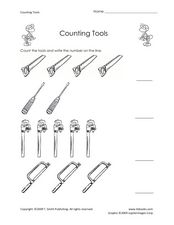 Counting Tools Worksheet