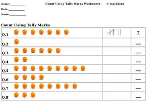 Counting Using Tally Marks Worksheet