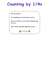 Counting With Fractions - Quarters (Fourths) Worksheet