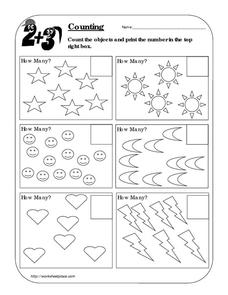 Counting Worksheet A Worksheet