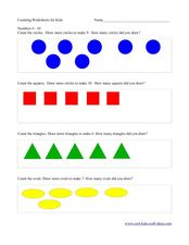Counting Worksheet- Numbers 6 to 10 Worksheet