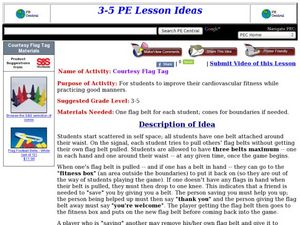 Courtesy Flag Tag Lesson Plan
