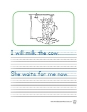 Cow Printing Worksheet