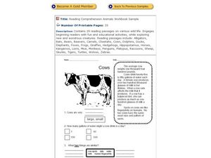 Cows Worksheet
