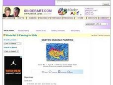Crayon Crackle Painting Lesson Plan