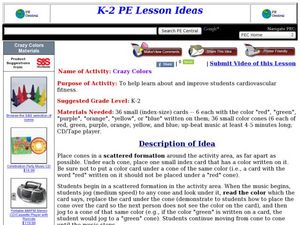 Crazy Colors Lesson Plan