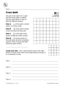 Crazy Quilt Worksheet