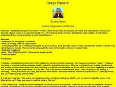 Crazy Racers! Lesson Plan