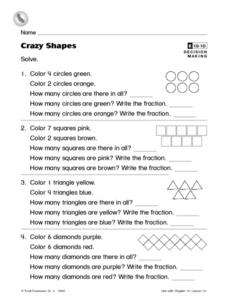 Crazy Shapes Worksheet