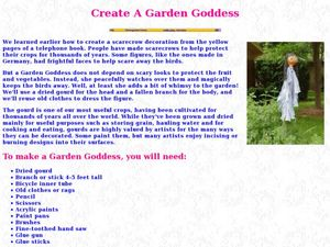 Create a Garden Goddess Lesson Plan