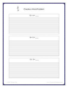 Create a Word Problem Worksheet